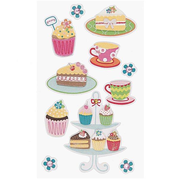 Paper Poetry 3D Sticker Kuchen-Cupcakes
