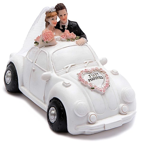 Brautpaar Im Auto Spardose 15cm