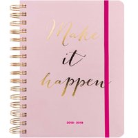 Paper Poetry Agenda 2018-2019 Make it happen rosa 16,5x22cm