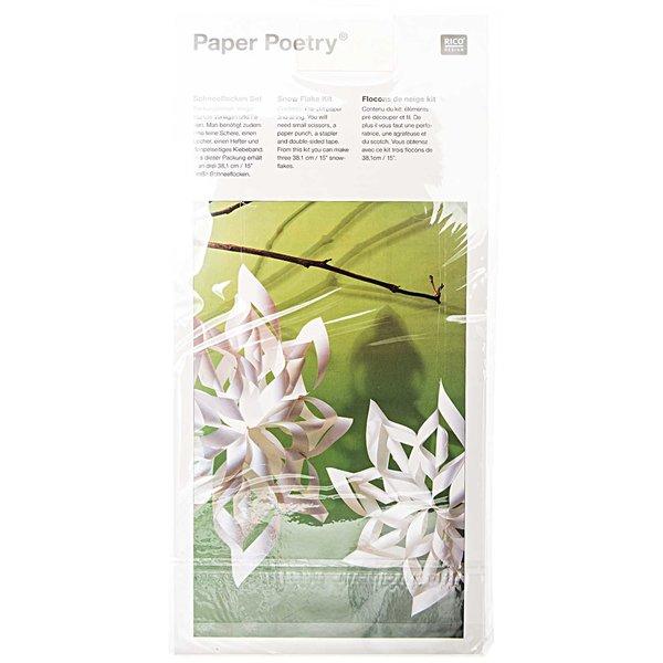 Paper Poetry Bastelset Schneeflocke 38,1x38,1cm 3 Stück