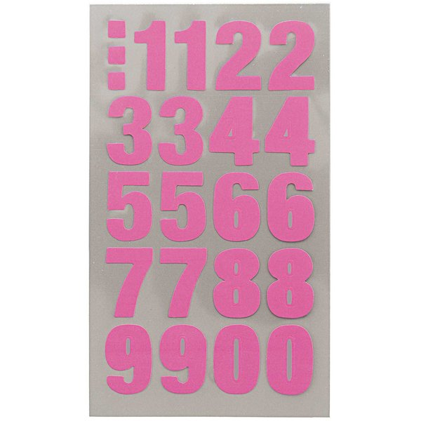 Paper Poetry Office Sticker Zahlen neonpink 4 Bogen