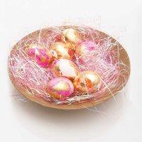 Anleitung Ostereier mit Blattmetall gestalten