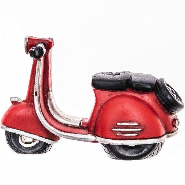 Motorroller rot 9x6cm