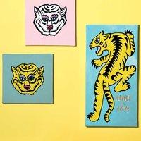 Anleitung Tigerbild malen