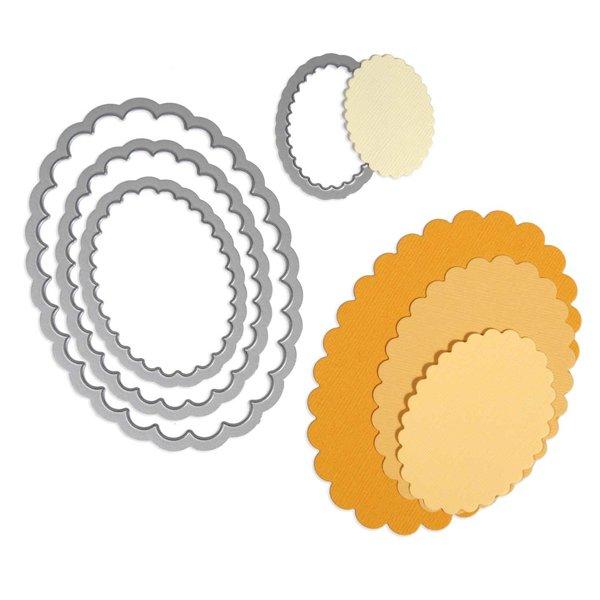 Sizzix Framelits Die Set Ovals scallop