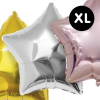 YEY! Let's Party Folienballon Stern 86cm