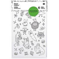 Paper Poetry Sticker zum Ausmalen 6 Bogen