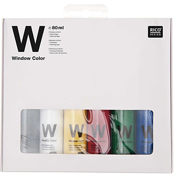 Rico Design Window Color Basic Set 6x80ml