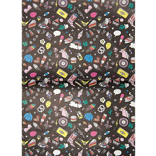 Rico Design Paper Patch Papier Icons schwarz 30x42cm