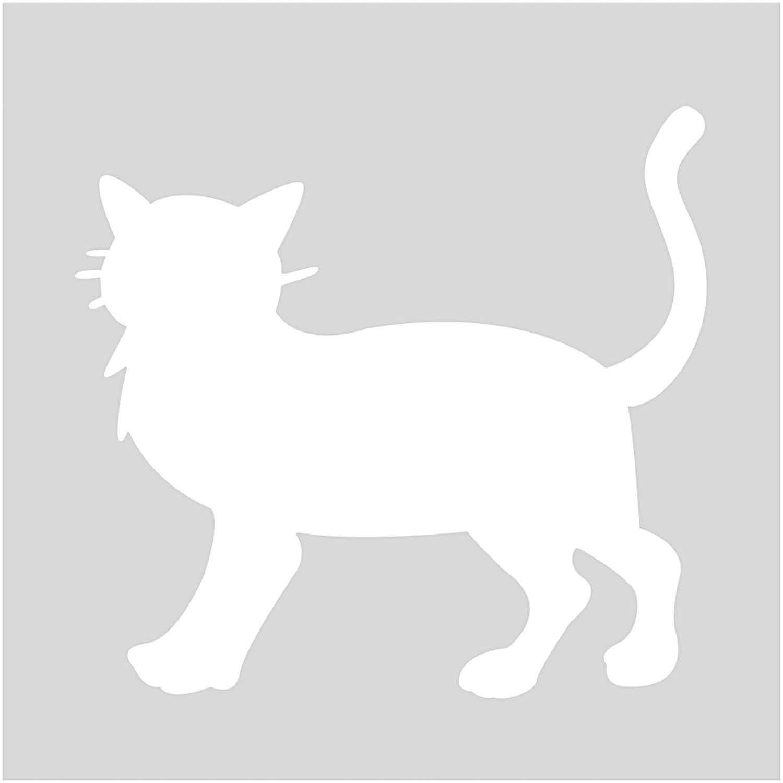 rico design schablone katze 7,5x7,5cm selbstklebend günstig kaufen »