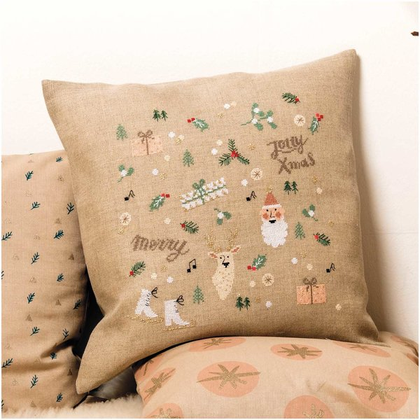 Rico Design Stickpackung Kissen Jolly Christmas 40x40cm