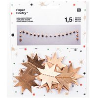 Paper Poetry Girlande Sterne gold 1,5m