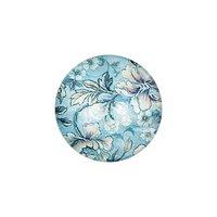 Jewellery Made by Me Cabochon Blumen blau-türkis 20mm Glas