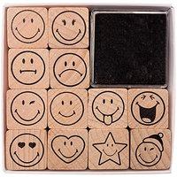 Paper Poetry Stempelset Smile 12 Stempel incl. Stempelkissen