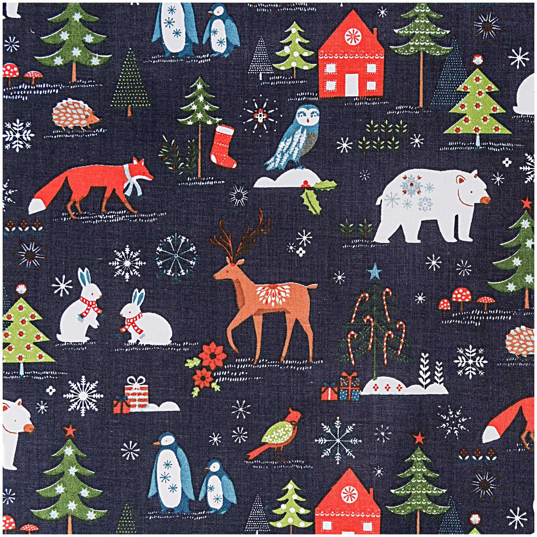 Weihnachts- und Winterstoff