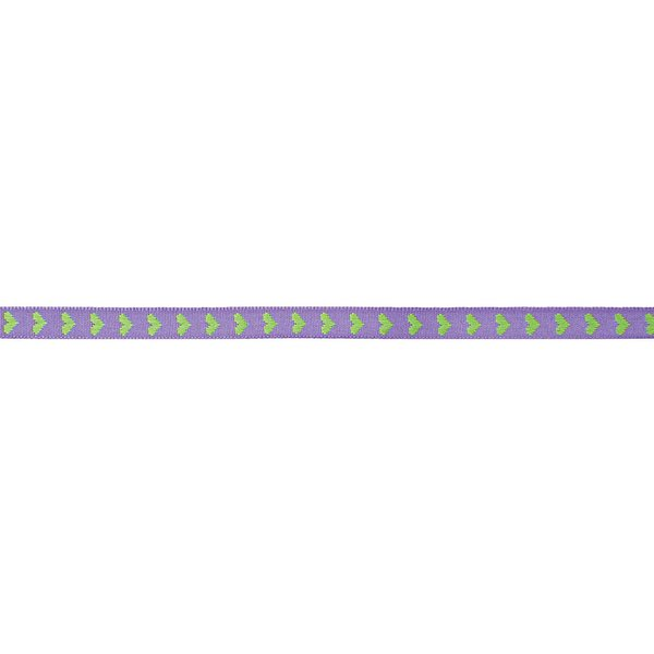 Rico Design Ribbon gewebte Herzen violett-grün 2m