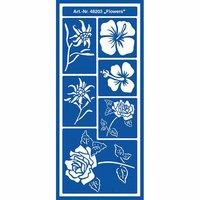 KREUL Motiv-Schablone selbsthaftend Flower 13x28cm
