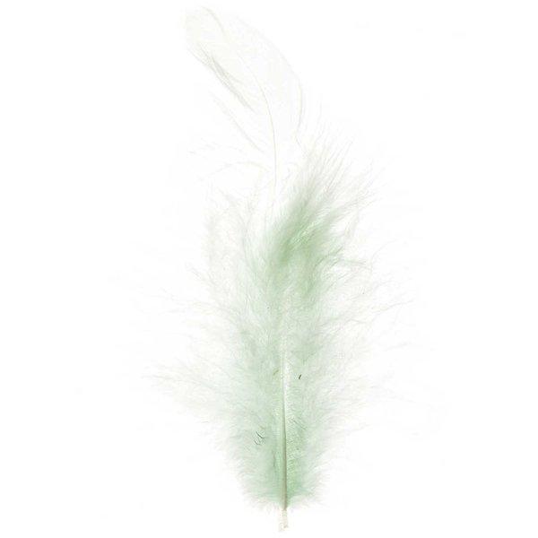 Perlhuhnfedern mintgrün 5g