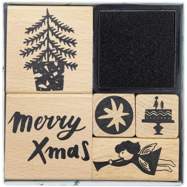 Paper Poetry Stempelset Jolly Christmas Engel 6teilig