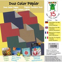 Nice Papers Origami Papier duo gold-silber 15x15cm 35 Blatt