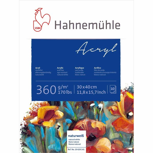 Hahnemühle Acrylmalkarton 30x40cm 360g/m²10 Blatt