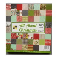 DECOHOBBY Scrapbooking Block All About Christmas 30,5x30,5cm 180 Blatt