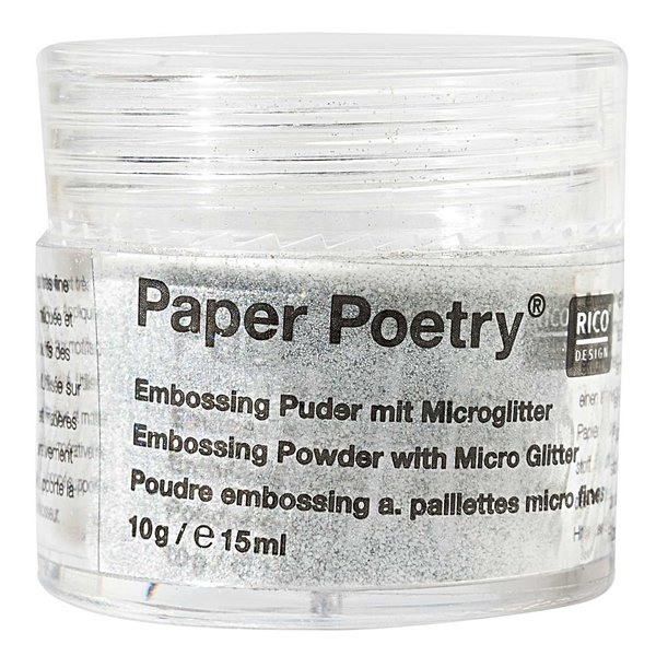 Paper Poetry Embossingpuder Mikroglitter weiß 10g