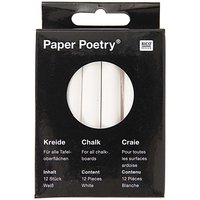 Paper Poetry Kreide weiß 12 Stück