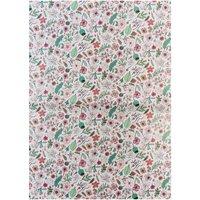 Rico Design Paper Patch Papier Hygge Blumen gold 30x42cm