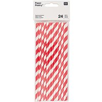 Paper Poetry Papierstrohhalme rot-weiß 24 Stück