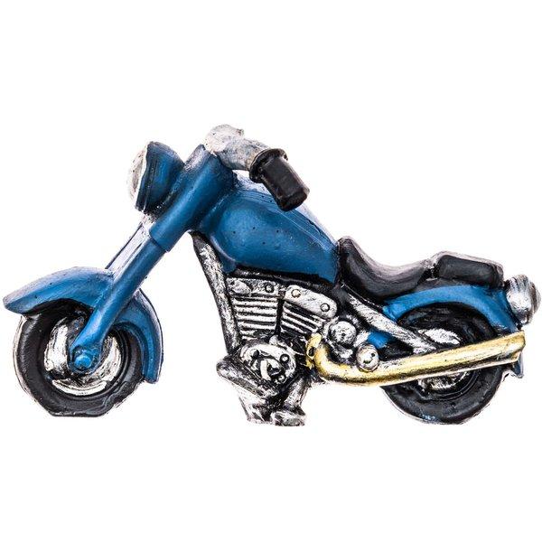 Motorrad blau-schwarz 8x4,5cm