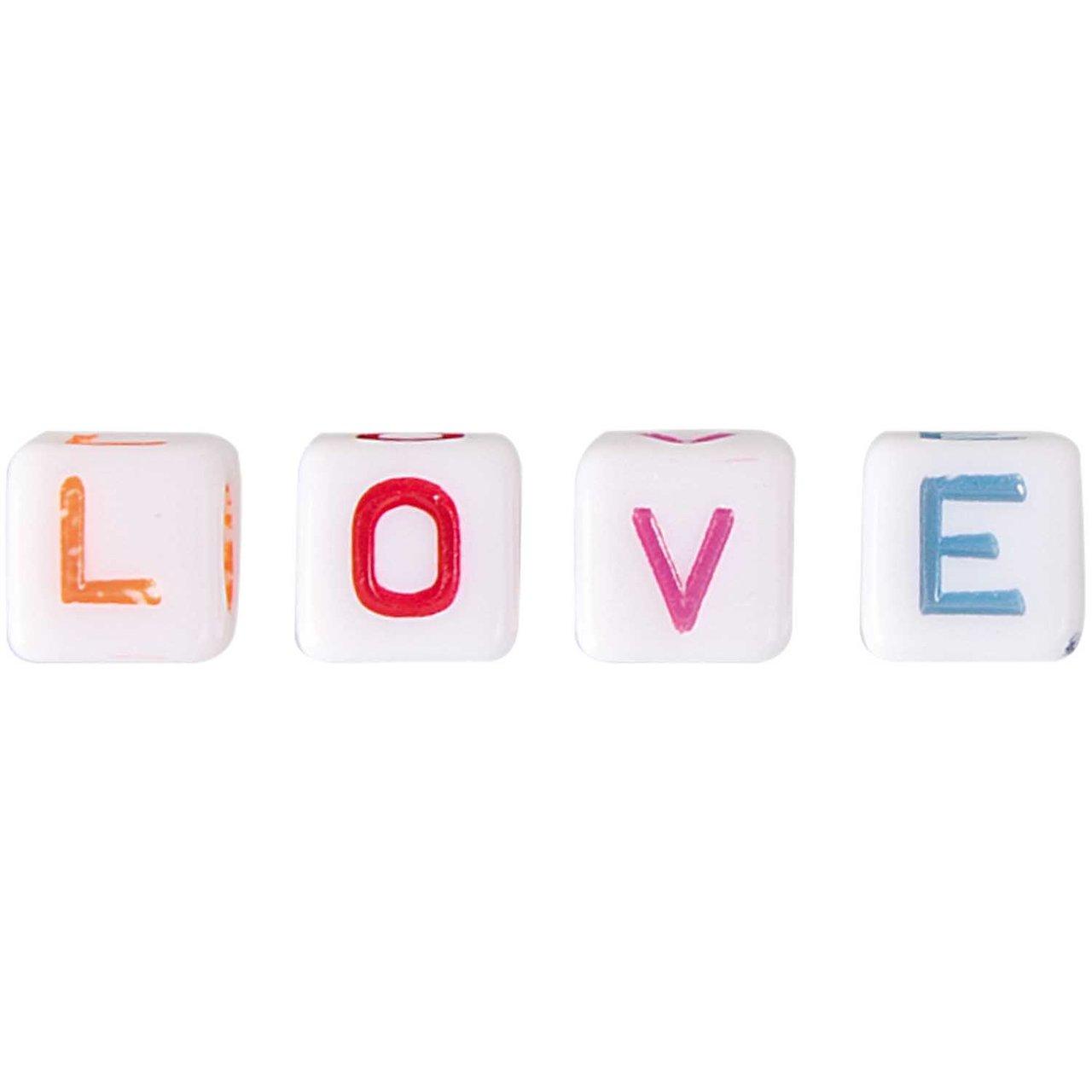 Jewellery Made by Me Buchstaben Würfel Love 4 Stück
