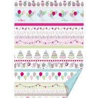 HEYDA Fotokarton Party Linien pastell 50x70cm 300g/m²