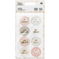 Paper Poetry Sticker Just Married puder-grau 4 Blatt
