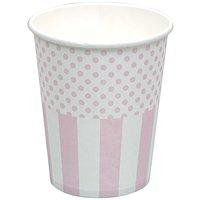 Rico Design Pappbecher rosa-weiß 12 Stück