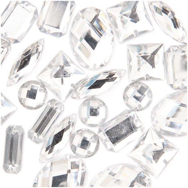 Jewellery Made by Me Aufnähsteine Mix weiß 25 Stück