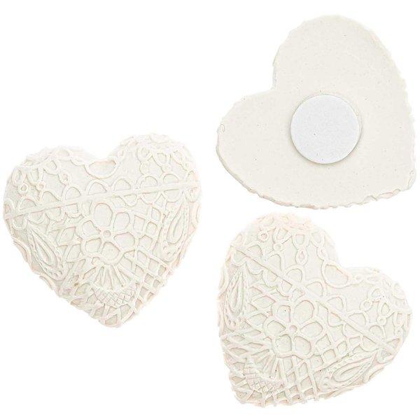 Streu Herz mit Klebepunkt weiß 2,8cm 8 Stück
