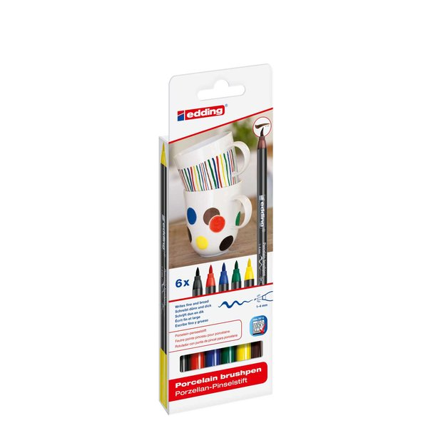 edding 4200/6 S porcelain brushpen family colours
