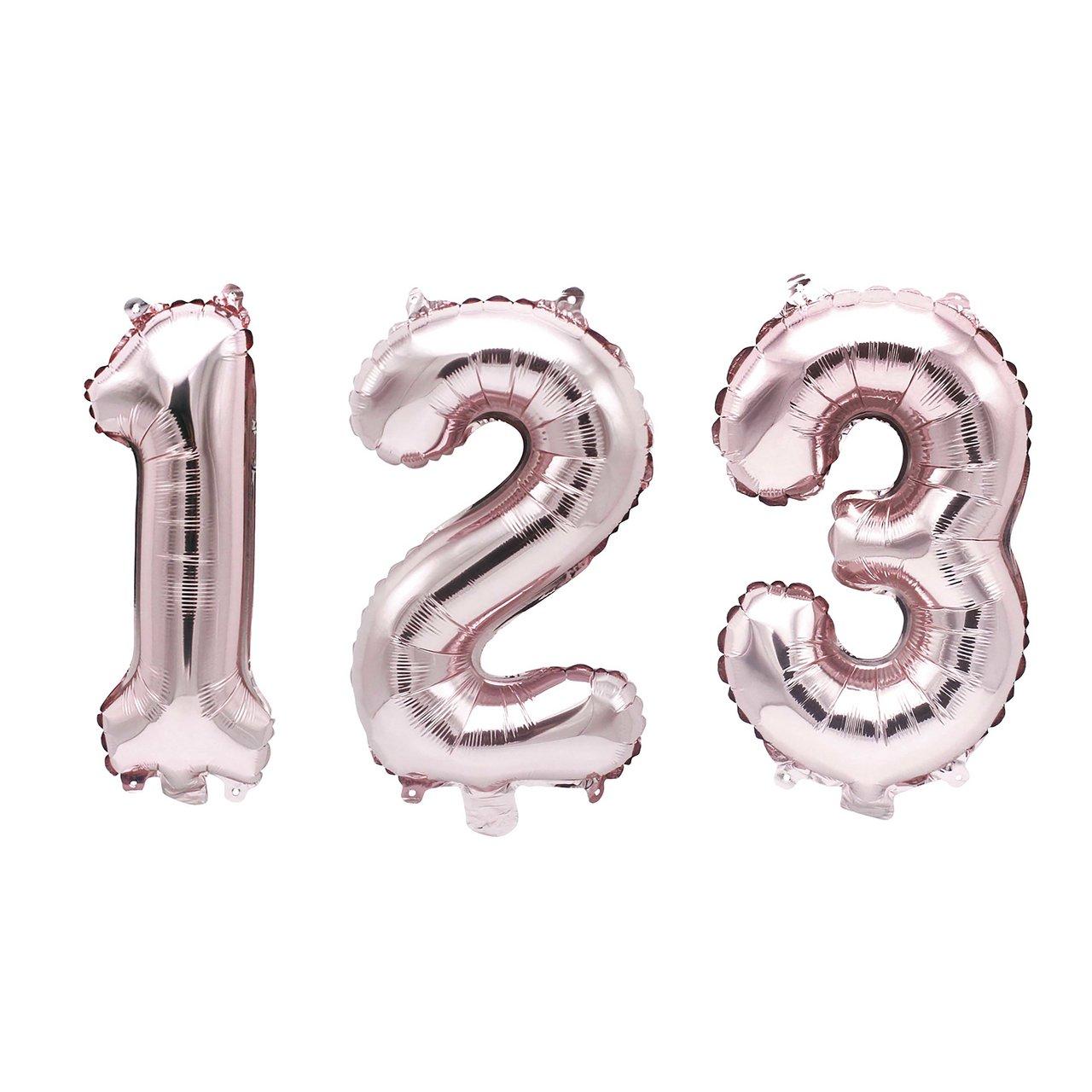 YEY! Let´s Party Folienballon Zahl rosa 36cm