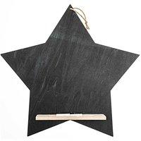 Memoboard Stern mit Kreide 41,5x40cm
