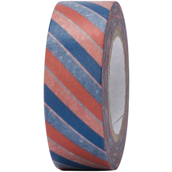 Paper Poetry Tape blau-rot gestreift 15mm 10m
