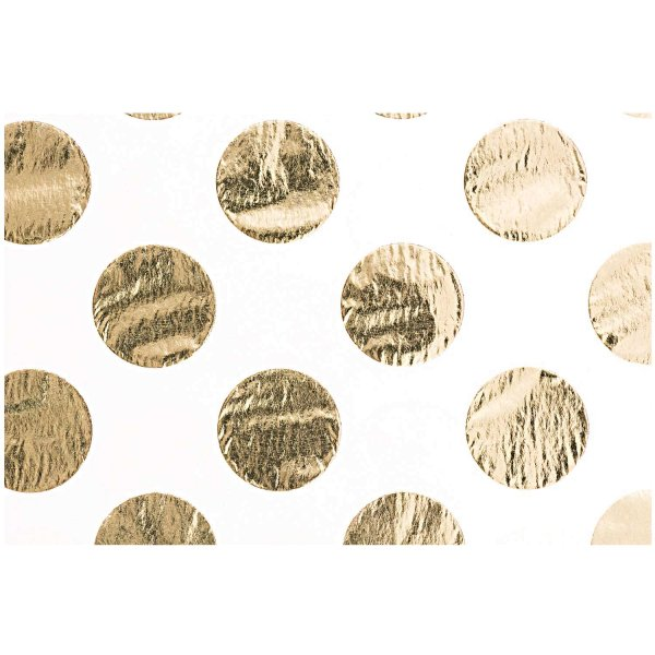 Paper Poetry Seidenpapier rosa Punkte gold 70x50cm 4 Bogen Hot Foil
