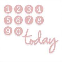 Sizzix Thinlits Die Set 11PK - Dainty Birthday Numbers by Debi Potter