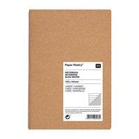 Paper Poetry 2in1 Notizbuch braun A6 80 Blatt