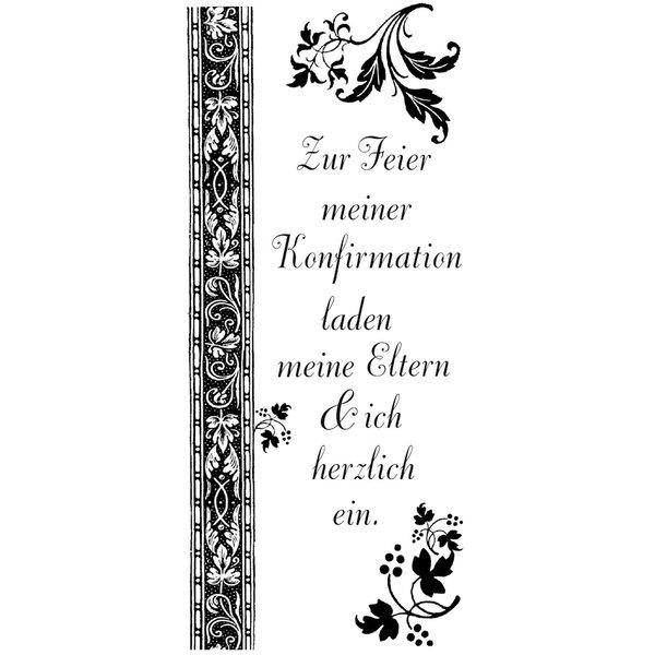 Rico Design Stempel Zur Feier meiner Konfirmation 9x4cm