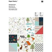 Paper Poetry Motivpapier Block Woodland Camping 21x30cm 30 Blatt