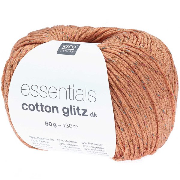Rico Design Essential Cotton Glitz dk 50g 130m
