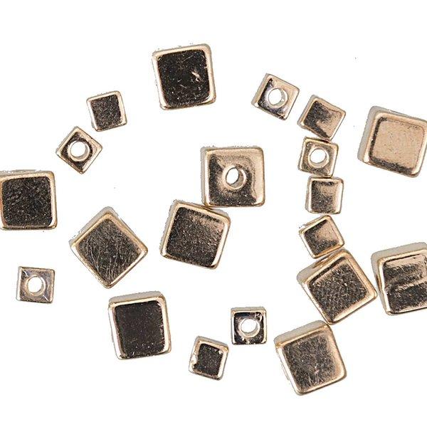 Jewellery Made by Me Würfel gold 6x6mm ca. 20 Stück