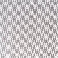 Rico Design Stoff Zickzack weiß-grau 140cm