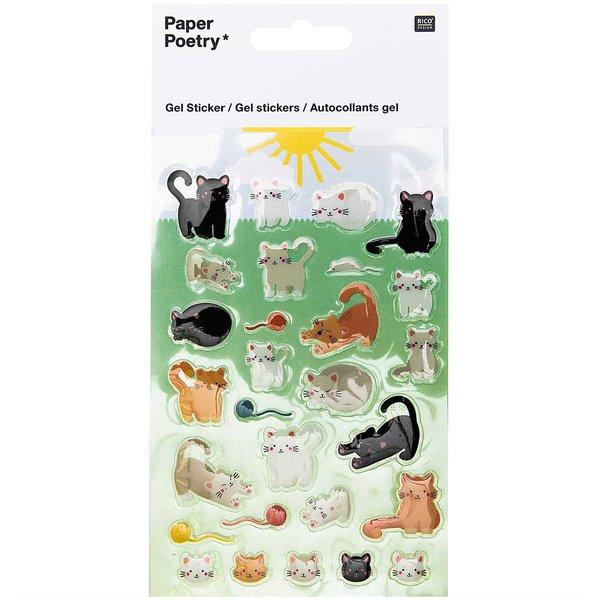 Paper Poetry Gelsticker Katzen